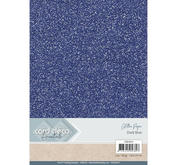 Card Deco - Glitterpapper- Dark blue