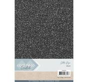 Card Deco - Glitterpapper-black