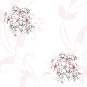 ROX Stamps - Paperpad -Körsbärsblom