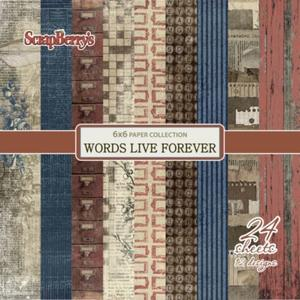 """Words live forever 6x6"""""""