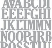 CE Uppercase  Alphabet, ca 2,5 cm höga