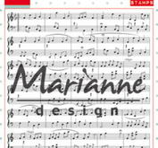 Marianne Design - Clear Stamp - Music notes