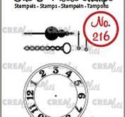 Crealies - Clear stamps - Urtavla och visare