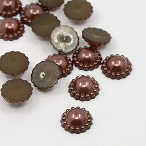 30 st pärlblommor - brun