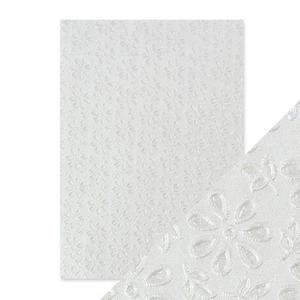Tonic Studios - Embossed paper -English lace