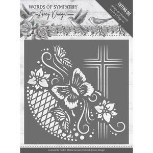 Amy Design - Die - Words of sympathy - Cross frame