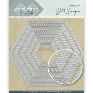 Card Deko - Essentials - Cutting dies -   Stitch hexacon