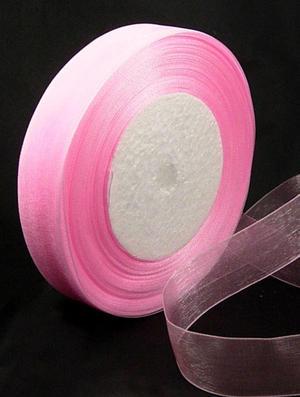 Rosa Organza 25 mm