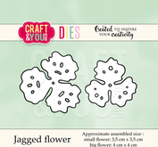 Craft & You - jagged flower