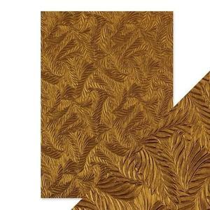 Tonic Studios - Embossed paper -coppar feathers
