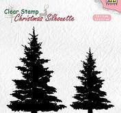 Nellie Snellen ChristmasSilhouette - Fir trees
