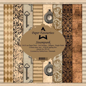 Paper Favourites - Plaid Pattern - Steampunk