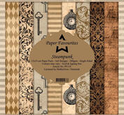 Paper Favourites - Plaid Pattern - Steampunk