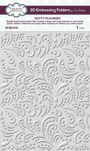 Creative expressions - embossing folder -dotty flourish