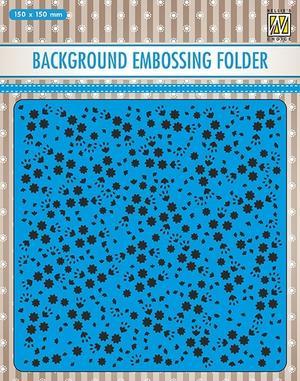 Nellie Snellen - Embossing folder - flowers