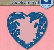 Nellie Snellen - shape dies blue -snowdrops heart