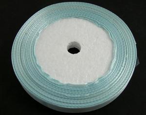 10 mm ljusblått satinband