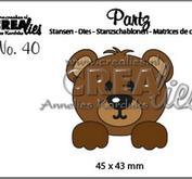 Crealies - Partz40 - Bear