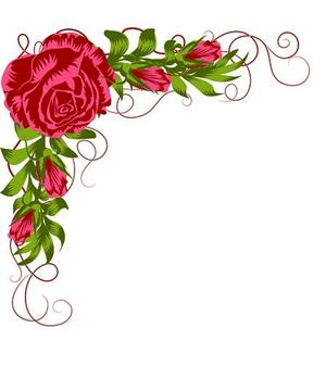 Nellie Snellen - Clearstamp - Layered - Rose corner
