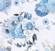 ROX Stamps Papper - Blå Blomster 01