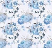 ROX Stamps Papper - Blå Blomster 02
