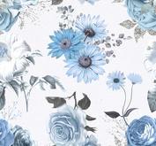 ROX Stamps Papper - Blå blomster 03