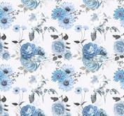 ROX Stamps Papper - Blå Blomster 04