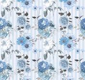 ROX Stamps Papper - Blå Blomster 05