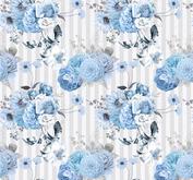 ROX Stamps Papper - Blå blomster 06