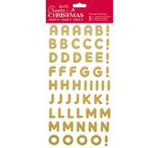 Stickers - Guld - Glitter - Alfabete.
