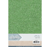 Card Deco - Glitterpapper - Light Green