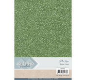 Card Deco - Glitterpapper - Apple green