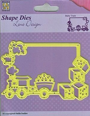 Nellie Snellen - Die - Shape die- Frame baby train