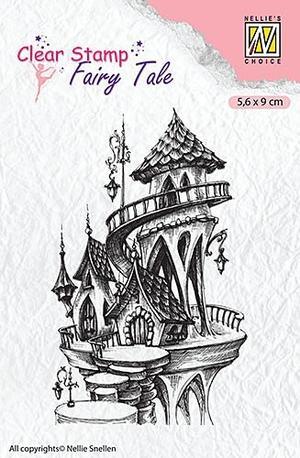 Nellie Snellen - clearstamp - Silhoutte - Fairy tale - castle summer
