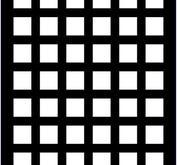 Mini Stencil  - Creative Expressions - squares grid