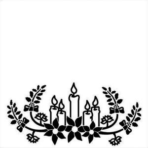 Nellie Snellen - Embossing folder - Christmas candles