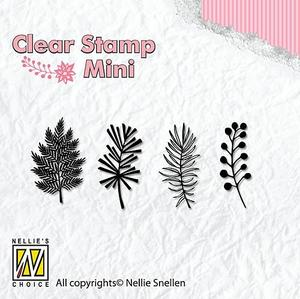 Nellie Snellen -CLEAR STAMP - mini - christmas branches -1