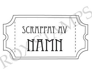 Biljettstämpel - Scrappat av med namn (PS011)