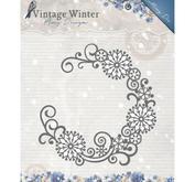 Amy Design - die - - Vintage Winter - Snowflake Swirl Round