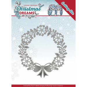 Yvonne Creations  - Christmas Dreams - Poinsettia Wreath