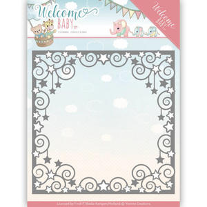 Yvonne Creations  -  Welcome Baby - Star Frame