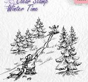 Nellie Snellen - Clear stamp - Sledge fun