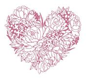 Couture creations - Mini clearstamps - Floral heart