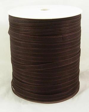Mörkbrunt organzaband - 6 mm