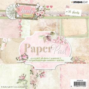 Studio Light - Paper pad - Lovely moments 123