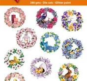 Easy 3D toppers - Spring flower wreath
