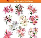 Easy 3D toppers - Lilies