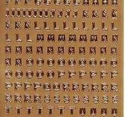 Nellie Snellen - Stickers Alfabet - Guld