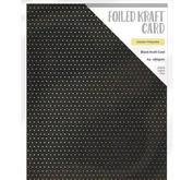 Craft Perfect - Foiled kraft card- Golden Polkadot