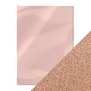 Tonic pearlescent card - blushing pink